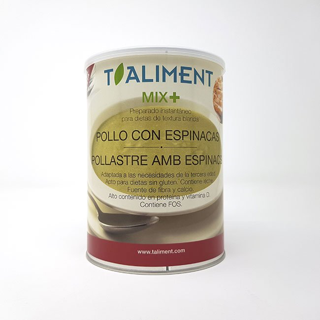 Cod. 26140 T.Aliment MIXPLUS PollastreEspinacs 600g